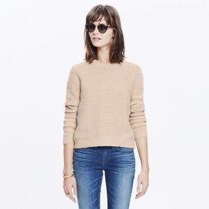 Madewell chunky cable knit sweater cream